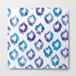 Quatrefoil Melts Metal Print