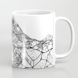 Edinburgh Map White Coffee Mug