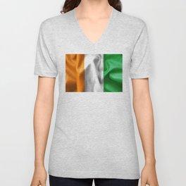 Ivory Coast Flag Unisex V-Neck