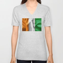 Ivory Coast Flag Unisex V-Neck