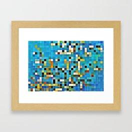 Blue glass mosaic Framed Art Print