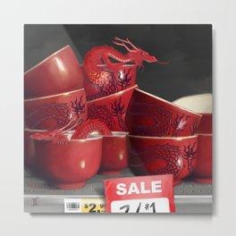Teacup Dragons, At Discount Metal Print