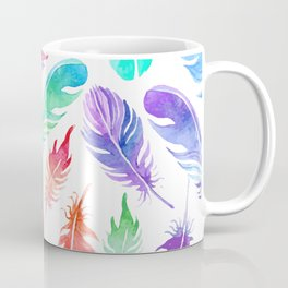 NEON RAINBOW TROPICAL FEATHERS Coffee Mug