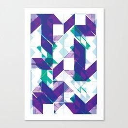Violets are purple Canvas Print