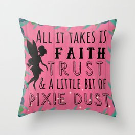 Pixie Dust Throw Pillow