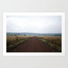 Lonely African Road Art Print