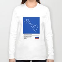 moscow Long Sleeve T-shirts featuring Moscow Raceway by MS80 Design