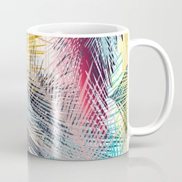 Jungle pampa colorful forest. Tropical fresh forest pattern with palms Coffee Mug
