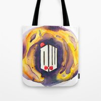 doctor who Tote Bags featuring Doctor Who by foreverwars