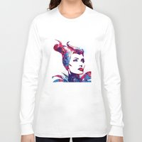 maleficent Long Sleeve T-shirts featuring Maleficent by lauramaahs