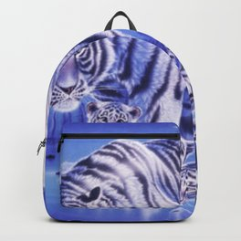 White tiger family Backpack