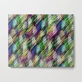 pattern crayon Metal Print