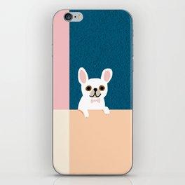 Little_French_Bulldog_Love_Minimalism_001 iPhone Skin
