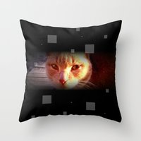 ginger Throw Pillows featuring Ginger by Emsify