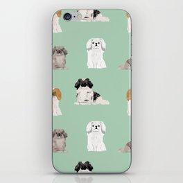 Pekingese dog breed gifts unique dogs pet friendly pet portraits iPhone Skin