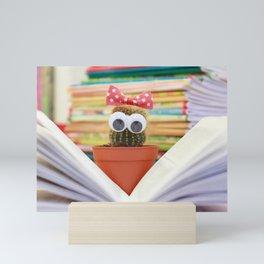 Cactus Book Flower Mini Art Print