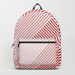 Shades of Red Abstract geometric pattern Backpack