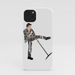Typography Art of Tom Waits iPhone Case