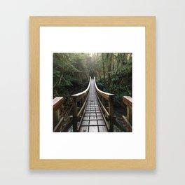 Forest Invitation Framed Art Print