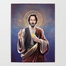 Saint Keanu of Reeves Poster