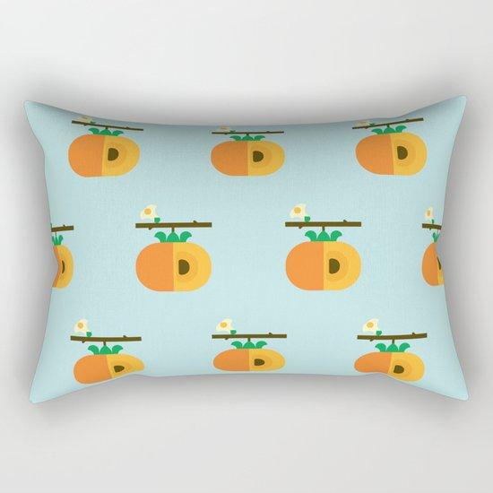 Fruit: Persimmon Rectangular Pillow