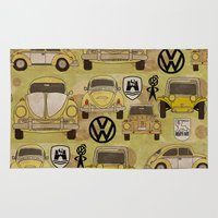 volkswagen Area & Throw Rugs featuring Volkswagen Type 1 Family by Dre Murray