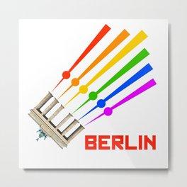 Pride Berlin TV TOWER BRANDENBURG GATE LGBT GAY Metal Print