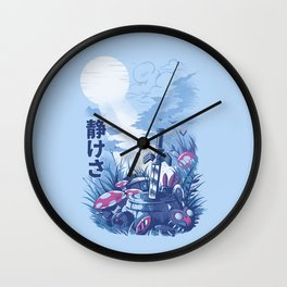Games on the woods Wall Clock