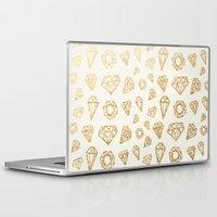 diamonds Laptop & iPad Skins featuring Diamonds by magicmaia