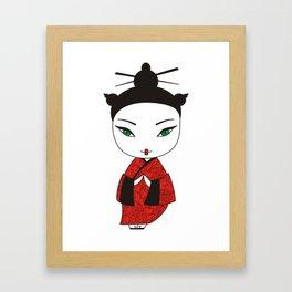 Geisha. Framed Art Print