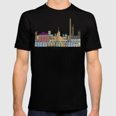 washington dc  Black SMALL Mens Fitted Tee