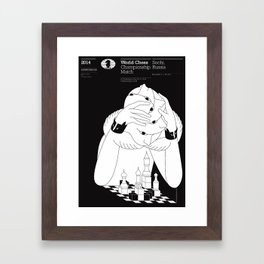 World Chess Championship Match Framed Art Print