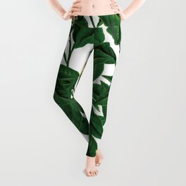 Evergreen floral flower herbal #society6 Leggings