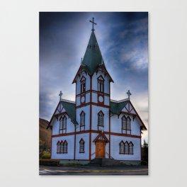 Husavik Church Iceland Canvas Print
