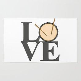 Love Drums Rug