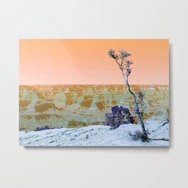 Little Tree on the Canyon V3 - New Hue Metal Print
