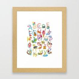 Alphabet poster Framed Art Print