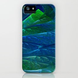 Sea Glass 3D Flame Fractal iPhone Case