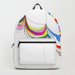 Curvilinear fabric grid form 1 Backpack