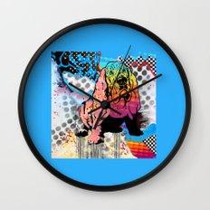 Basset pop art Wall Clock
