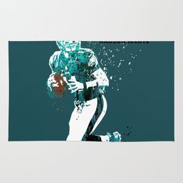 Carson Wentz #American football player on green Rug