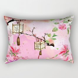 Oriental Garden Rectangular Pillow