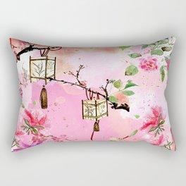 Oriental Garden Rectangular Pillow