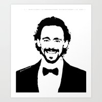 tom hiddleston Art Prints featuring Tom Hiddleston by Quinnlee