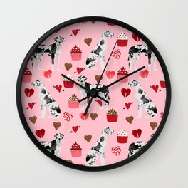 Great Dane valentines day dog person must have gifts to say i ruff you Wall Clock
