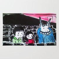 donnie darko Area & Throw Rugs featuring Donnie Darko - At the Cinema  by Ayemaiden