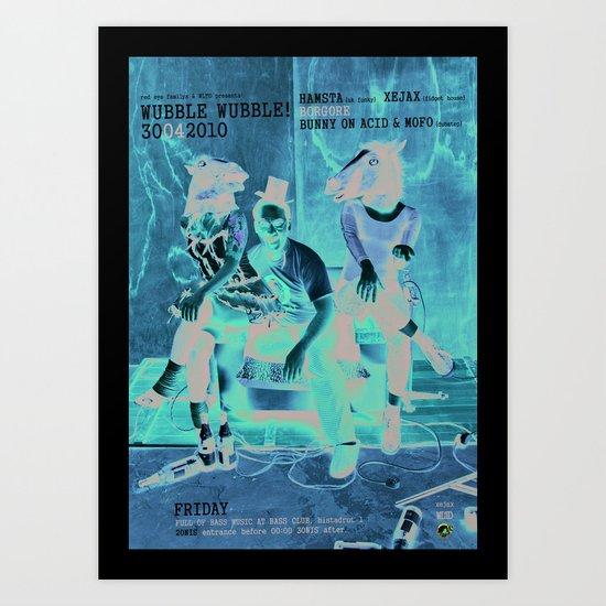 Wubble Wubble ANALOG zine Art Print