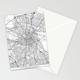Dublin Map White Stationery Cards