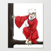 inuyasha Canvas Prints featuring Inuyasha  by mothroot