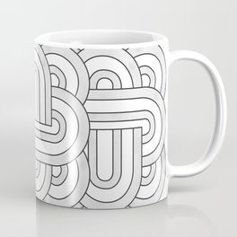 black and white rainbow mess tile 1 Coffee Mug